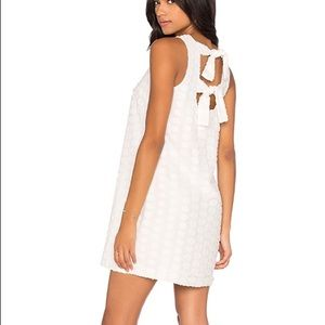 1. State white shift dress